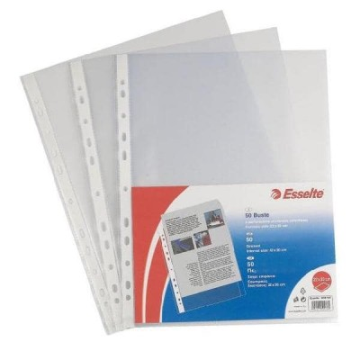 Buste perforate OFFICE - PPL lucido - f.to 22 x 30 cm - conf.50 pz ESSELTE