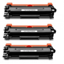 Toner Comp. con Brother TN2420 alta capacità 3K - CON Chip kit 3 pz