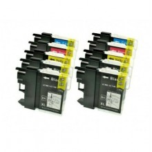KIT 10 CARTUCCE PER BROTHER LC980 LC1100 DCP-145 DCP-165C DCP-197 DCP-365CN DCP-585C