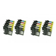 KIT 20 CARTUCCE PER BROTHER LC980 LC1100 DCP-145 DCP-165C DCP-197 DCP-365CN DCP-585C