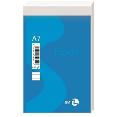 BLOCCO NOTES BM EXPORT 8x12,5 MM A7 FG 60 CF 30 PZ