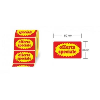 ROTOLO ETICHETTE PATINATE 50X30 mm ET.1000 STAMPATE OFFERTA SPECIALE