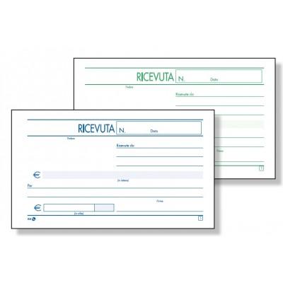 BLOCCO RICEVUTA GENERICA 2 COPIE AUTOCOPIANTE 9,8 x 16,5 CM