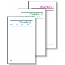 BUONI COMANDE 3 COPIE AUTOCOPIANTE 9,8 x 16,5 CM