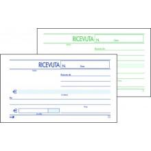 BLOCCO RICEVUTA GENERICA 2 COPIE AUTOCOPIANTE 9,8 x 16,5 CM CF 5 PZ