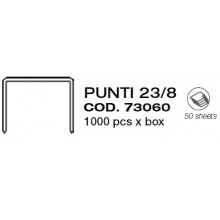 PUNTI CUCITRICE SPILLATRICE ALTI SPESSORI 23/8 SC. 1000 PZ.