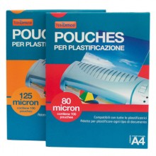 POUCHES 154X216 A5 MIC 80 PER PLASTIFICAZIONE