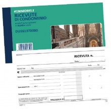 BLOCCO RICEVUTE CONDOMINIO 50X2 AUT 10X16,8 DU161370000 DATA UFFICIO