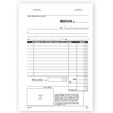 Ricevute Sanitarie registro degli onorari e delle fatture, blocco di 50/50 copie autoricalcanti.21,5x14,8 cm DATA UFFICIO
