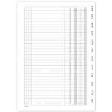 Registro Scadenzario Gennaio/Dicembre, 4 pagg. p/mese, con spirale 29,7x21 cm