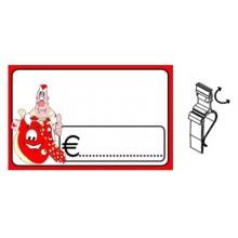 SEGNAPREZZO PVC RETTANGOLARE SALUMI CANCELLABILE 30 PZ CON TEN-CLIP