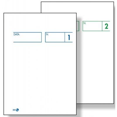 BUONI COMANDE 2 COPIE AUTOCOPIANTE 7,5 x 10,5 CM