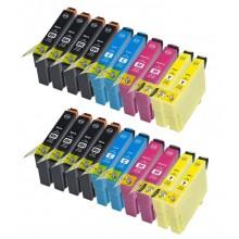 KIT 20 CARTUCCE PER EPSON T0711 T0712 T0713 T0714 SX115 BX300F DX4050 SX400 SX110