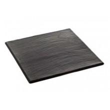 Piatto quadrato in porcellana effetto ardesia opaca 250 X 250 mm.