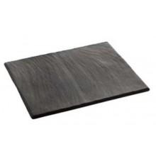 Piatto rettangolare in porcellana GN 1/2 effetto ardesia opaca 320 X 265 mm