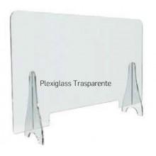 PANNELLO PLEXI TRASPARENTE- BORDI ARROTONDATI FORMATO(b x h) 140x67 cm