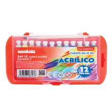 SET ACRILICO 12 ml 12 PZ ASSORTITI