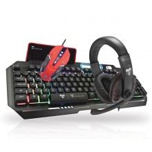 TECHMADE KIT GAMING TASTIERA MOUSE CUFFIE E PAD