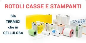 Rotolini termici e cellulosa per casse e stampanti